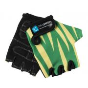 """Перчатки детские защитные """"S"""" (без пальцев) - Crazy Safety - Green Tiger"""