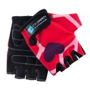 """Перчатки детские защитные (без пальцев) - Crazy Safety - Red Giraffe (красный жираф) - """"S"""" - 7см"""
