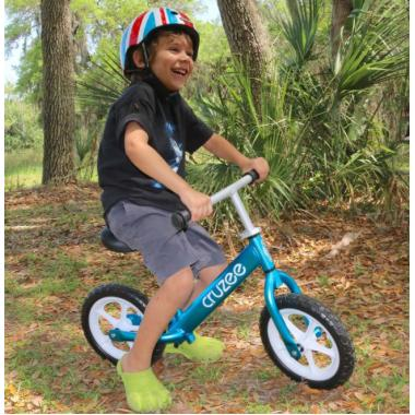 Cruzee UltraLite Balance Bike (Blue) + Air Wheels Kenda
