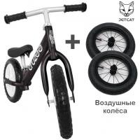 Cruzee UltraLite Balance Bike (Black) + Air Wheels