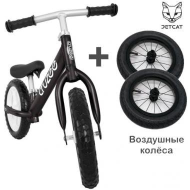 Cruzee UltraLite Balance Bike (Black) + Air Wheels Kenda