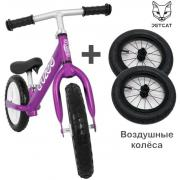 Cruzee UltraLite Balance Bike (Purple) + Air Wheels