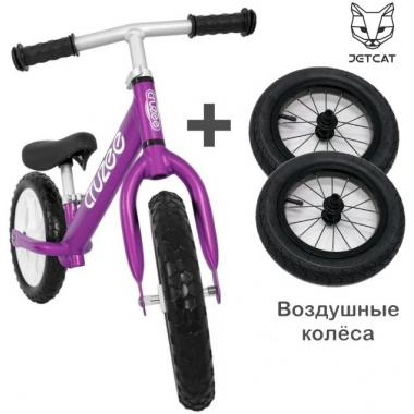 Cruzee UltraLite Balance Bike (Purple) + Air Wheels Kenda