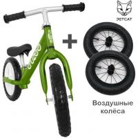 Cruzee UltraLite Balance Bike (Green) + Air Wheels