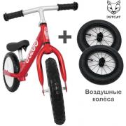 Cruzee UltraLite Balance Bike (Red) + Air Wheels