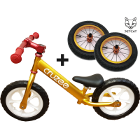 Cruzee UltraLite Balance Bike (Gold) Рулевая и Воздушные колёса от Jet-Cat